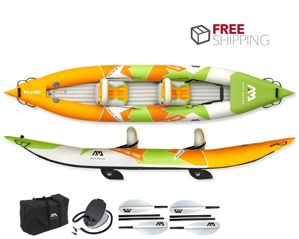 Aqua Marina Betta 2 Person Inflatable Kayak NEW 2020 - River To Ocean Adventures