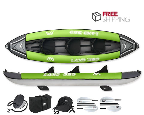 Aqua Marina Laxo 380 3 Person Inflatable Kayak NEW 2020 - River To Ocean Adventures