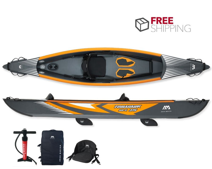 Aqua Marina Tomahawk Air-K 375 1 Person Inflatable Kayak NEW 2020 - River To Ocean Adventures