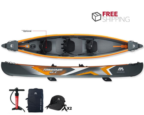 Aqua Marina Tomahawk Air-C 480 3 Person Inflatable Kayak NEW 2020 - River To Ocean Adventures