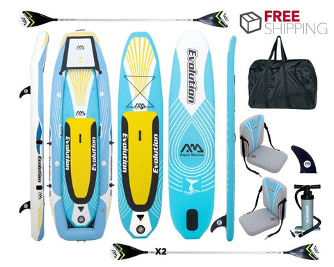 Aqua Marina Evolution Inflatable SUP & Kayak In One NEW 2020 - River To Ocean Adventures