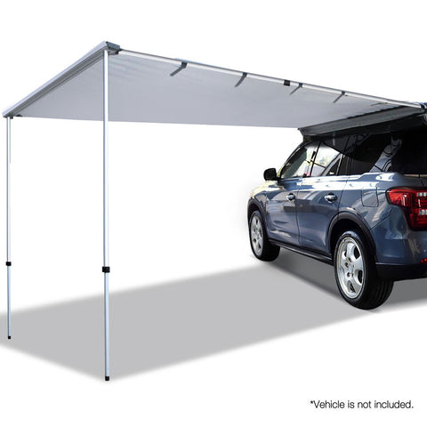 Weisshorn Car Shade Awning 2.5 x 3m - Grey