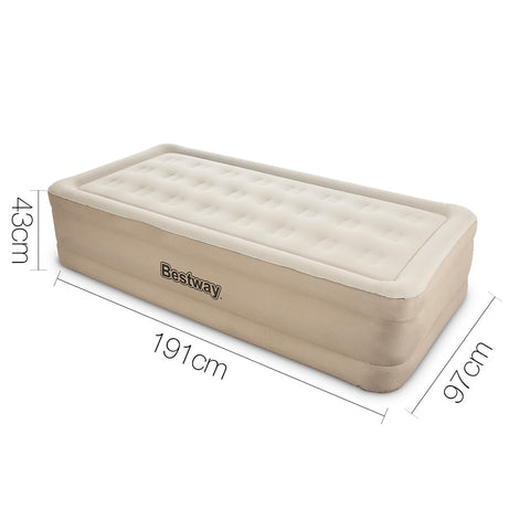 Bestway Single Size Inflatable Air Mattress - Beige - River To Ocean Adventures