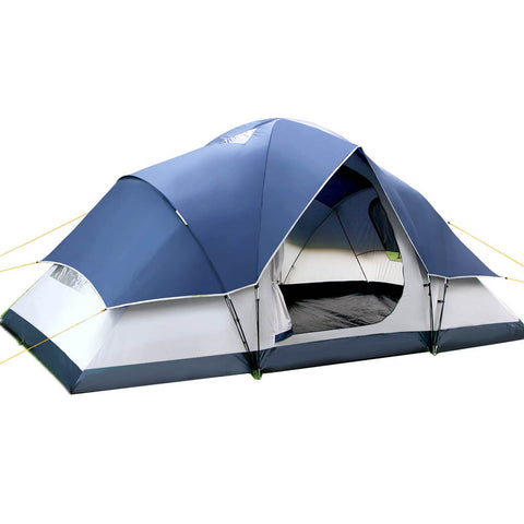 Weisshorn 6 Person Family Camping Tent Navy Grey