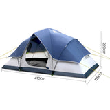 Weisshorn 6 Person Family Camping Tent Navy Grey - River To Ocean Adventures