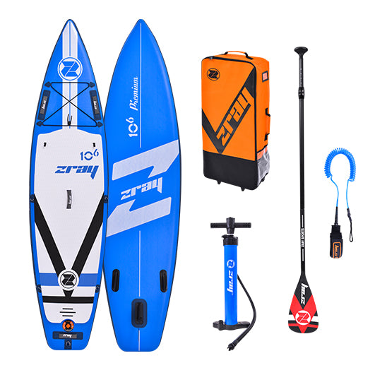 "Zray Fury Pro Inflatable SUP Paddleboard 10'6"" - River To Ocean Adventures"