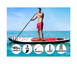 Weisshorn 11ft Inflatable Stand Up Paddle Board SUP - Red