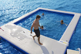 Aquaglide Inflatable Floating Ocean Pool - 5m x 6m - River To Ocean Adventures