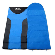 Load image into Gallery viewer, Weisshorn Twin Set Thermal Sleeping Bags - Blue & Black - River To Ocean Adventures