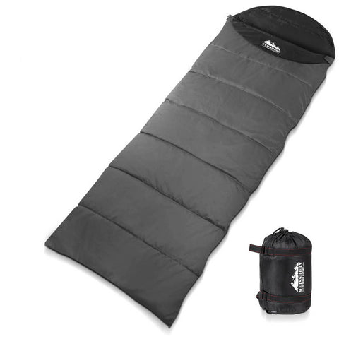 Weisshorn Single Thermal Micro Compact Sleeping Bag - Black & Grey - River To Ocean Adventures