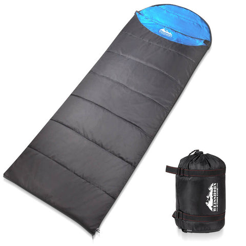 Weisshorn Single Thermal Micro Compact Sleeping Bag - Blue & Grey - River To Ocean Adventures