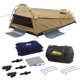 Weisshorn Double Swag Camping Swag Canvas Tent - Beige