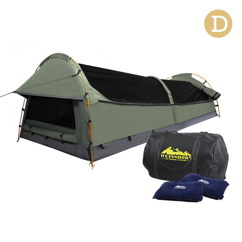 Weisshorn Double Swag Camping Swag Canvas Tent - Celadon
