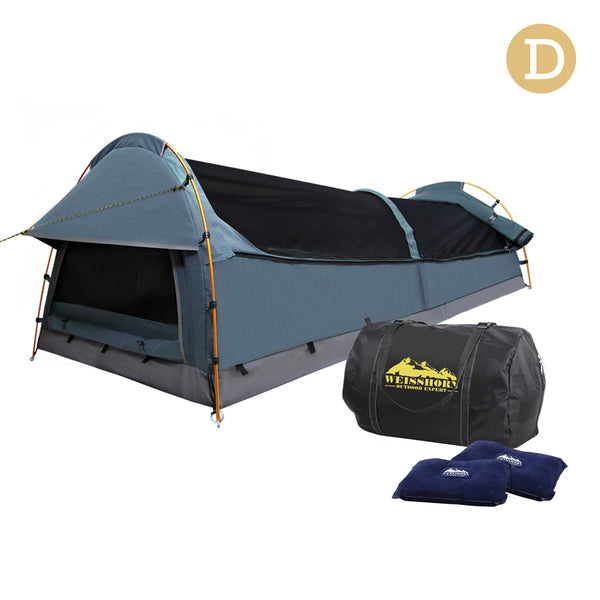 Weisshorn Double Swag Camping Swag Canvas Tent - Navy - River To Ocean Adventures