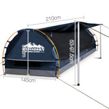 Weisshorn Double Swag Camping Swag Canvas Tent - Dark Blue
