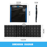 150W FLEXIBLE FOLDING SOLAR PANEL KIT MONO CARAVAN BOAT CAMPING POWER BATTERY - River To Ocean Adventures