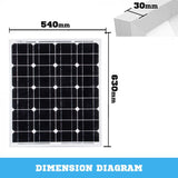 12V 60W SOLAR PANEL KIT HOME GENERATOR CARAVAN CAMPING POWER MONO CHARGING - River To Ocean Adventures