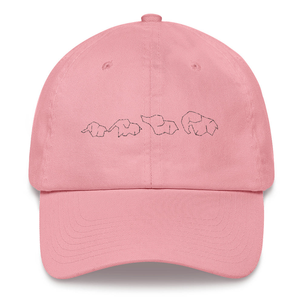 Family of Elephants Dad Hat