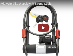 Via Velo Bike U Lock with Strong Cable