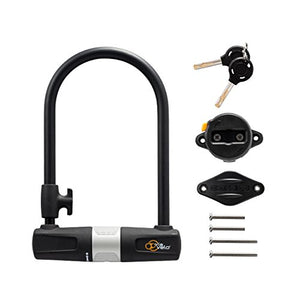 Bike U Lock with Cable - Via Velo Heavy Duty Bicycle U-Lock,14mm Shackle and 10mm x1.8m Cable with Mounting Bracket For Road Bike Mountain Bike Electric Bike Folding Bike, Great Bike Safety Tool - ViaVelo