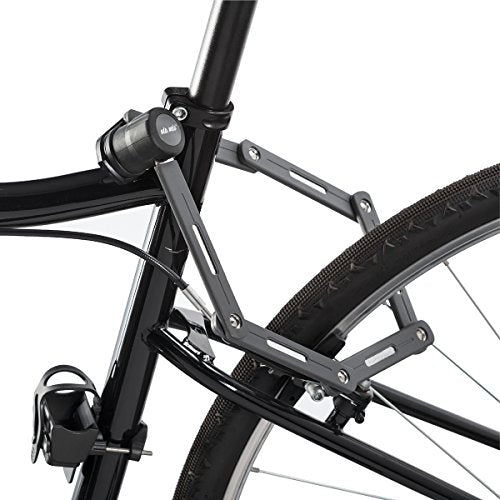 Bike Lock Folding Steel Joints - Via Velo Bike Lock with High Security Hardened Steel Metal, Great Bike Safety Tool
