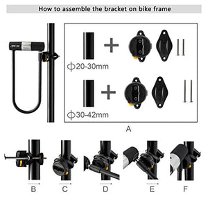 Via Velo Bicycle U-Lock-Heavy duty 15mm and longer Shackle for 2 bikes and 10mm x1.2m Cable - ViaVelo