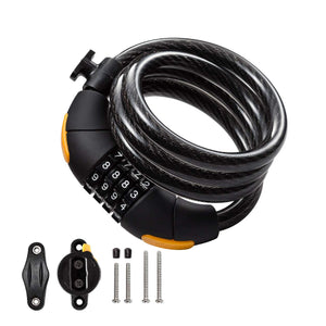 Via Velo Combination Lock With 4-Feet Durable Cable For Bike - ViaVelo