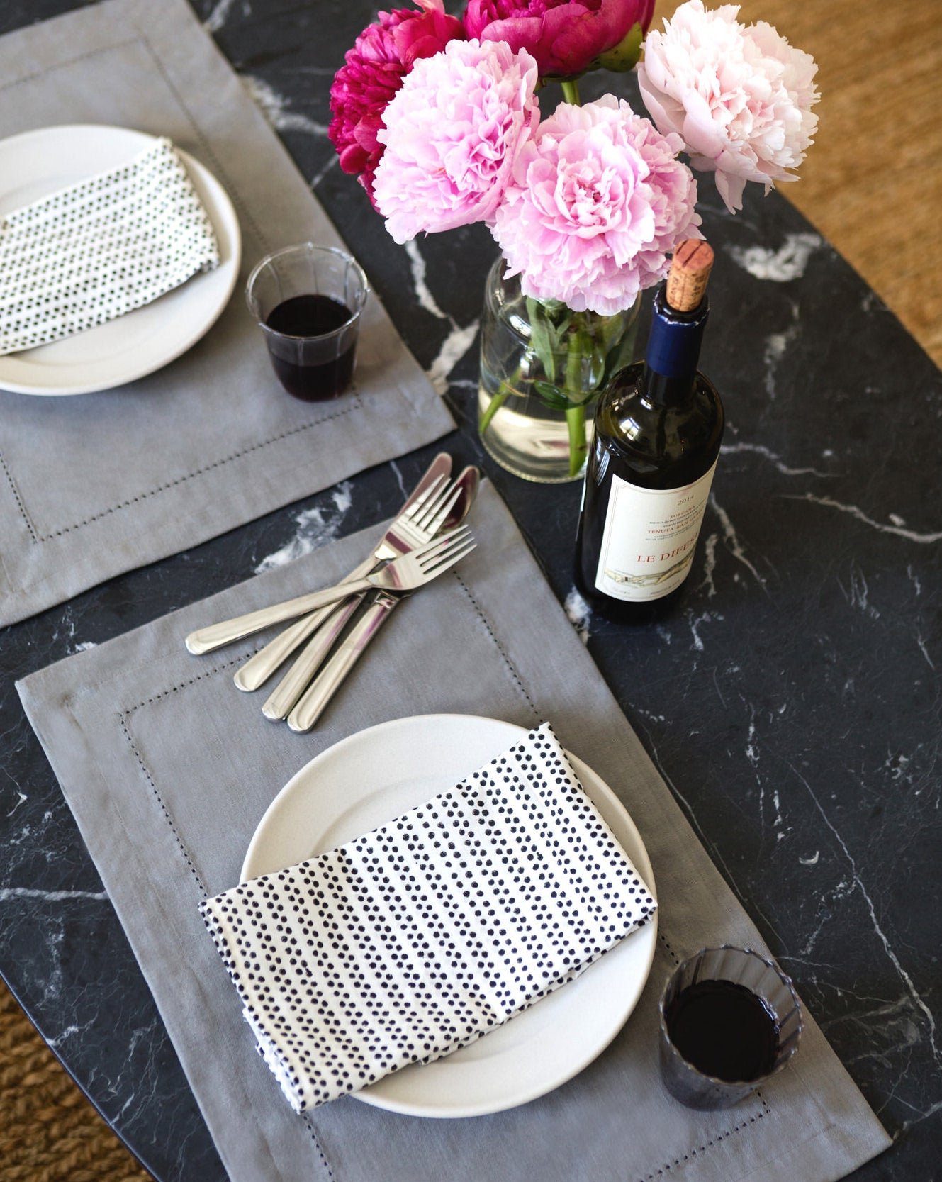 BASICS- FLINT GREY PLACEMATS