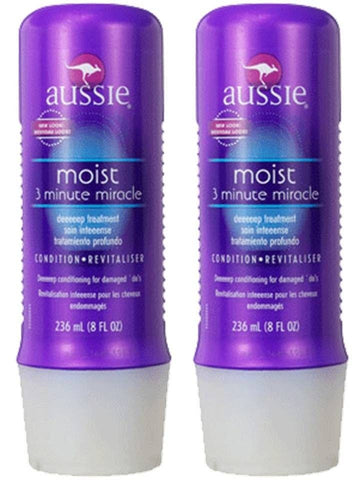 AUSSIE '3-Minute Miracle' Moist Deep Hair Conditioner Treatment 8fl oz (2-pack)