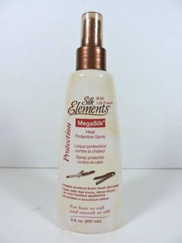 Silk Elements MEGASILK Heat Protection Spray NEW w/ Protein for Hair (8oz 237ml)