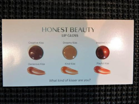 Honest Beauty Lip Gloss Sample Creative Dreamy & Inspired Kiss w/ Pomegranate