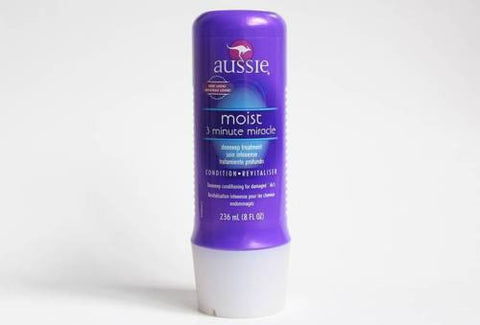 "AUSSIE ""3-Minute Miracle"" Moist Deep Conditioner 236 mL 8fl oz Damaged Hair NEW"
