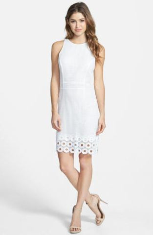 KUT From The Kloth, Women's White Evelyn Sleeveless Pencil Dress Size 6 NEW