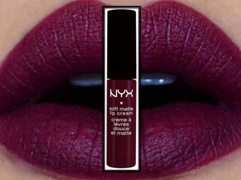 NYX Soft Matte Lip Cream SMLC 20 Copenhagen Moist Lipstick Rich Plum Purple