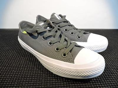 CONVERSE 'All Star' Chuck II Low Top Gray Thunder Sneakers Women's Size 5.5