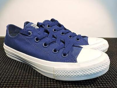 CONVERSE 'All Star' Chuck II Low Top Blue Sneakers Women's Size 5.5