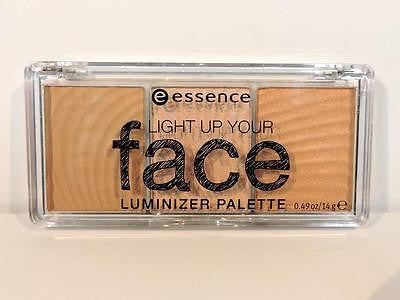 ESSENCE Light Up Your Face Luminizer Palette Ready Set Glow Highlighter Makeup