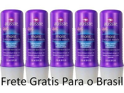 Lot of 5 AUSSIE 3-Minute Miracle MOIST Hair Conditioner 8oz 236 ml Deep Care NEW