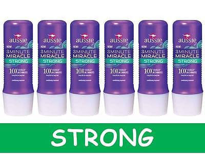 6-Pack AUSSIE 3-Minute Miracle 'STRONG' Long Hair Conditioner Treatment Mask 10x