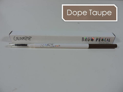 COLOURPOP Brow Pencil 'DOPE TAUPE' Crayon & Brush | Soft Taupe 0.09g