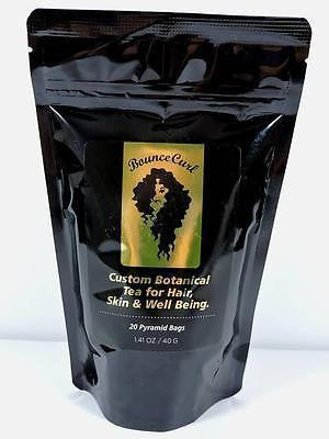 Bounce Curl Custom Botanical Tea for Hair Skin & Well-being 20 Pyramid Bags 40g
