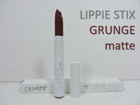 COLOURPOP 'GRUNGE' Lippie Stix | Nudes Plum-Brown Matte Lipstick (Full Size 1.0g)