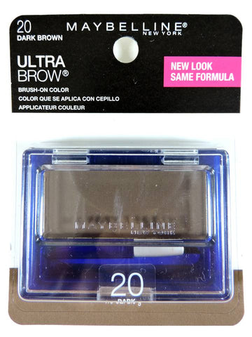 Maybelline Ultra-Brow Powder Dark Brown Eyebrow Brush-On Color 404 / 20