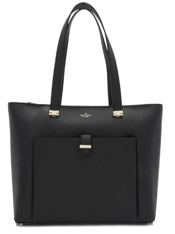 Kate Spade New York Leonard Street Lucie Leather Tote Bag Black Leather Handbag