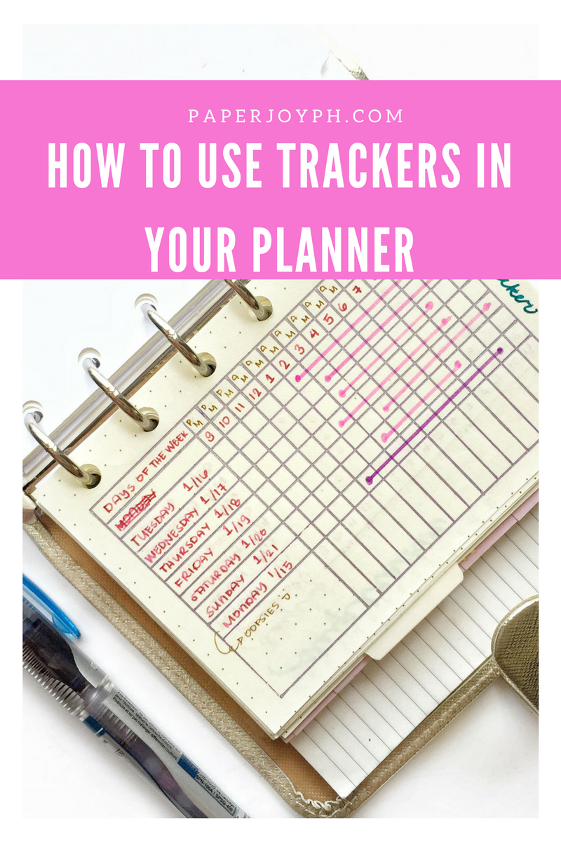 HOW TO USE TRACKERS IN YOUR PLANNER