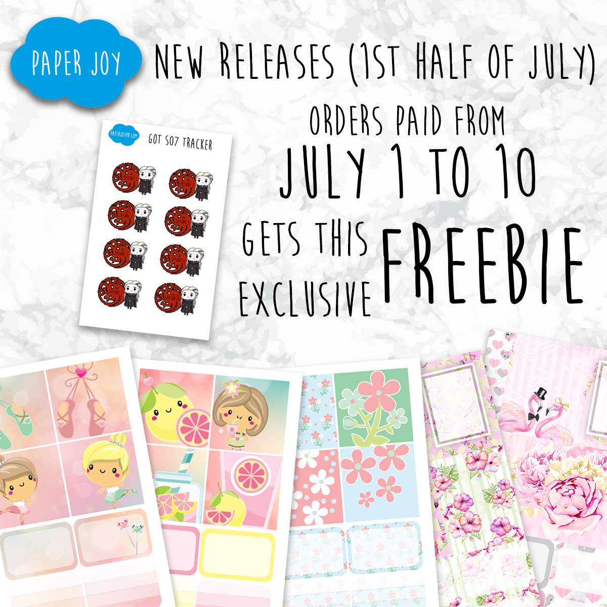DISCOUNT CODE AND FREEBIE: JULY RELEASES