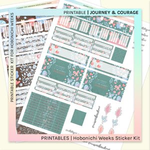 PRINTABLE | HOBONICHI WEEKS | Journey & Courage