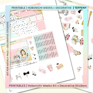PRINTABLE | HOBONICHI WEEKS + DECORATIVE | Teffeny