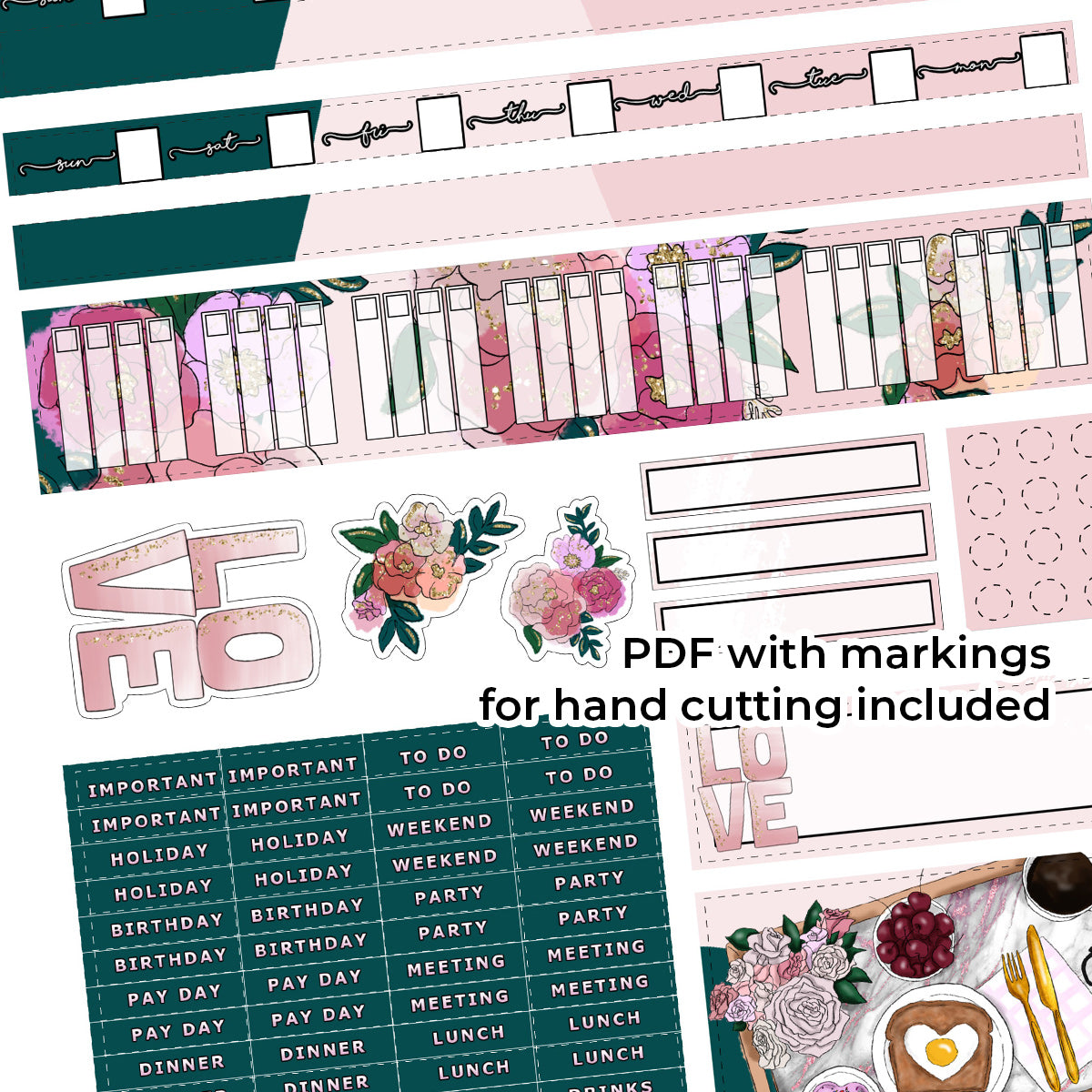 PRINTABLE | HOBONICHI WEEKS | Only One I See & You Look At Me