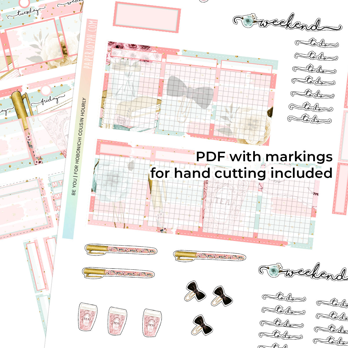 PRINTABLES | HOBONICHI COUSIN  | HOURLY STICKER KIT | BE YOU
